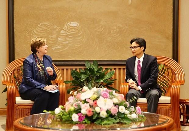 越南政府副总理武德儋会见联合国儿童基金会驻越首席代表 hinh anh 1