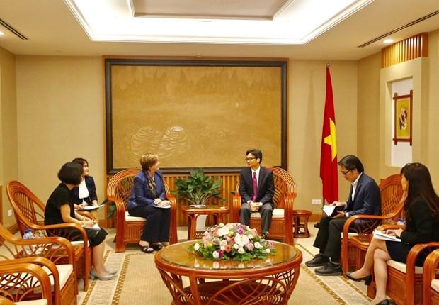 越南政府副总理武德儋会见联合国儿童基金会驻越首席代表 hinh anh 2