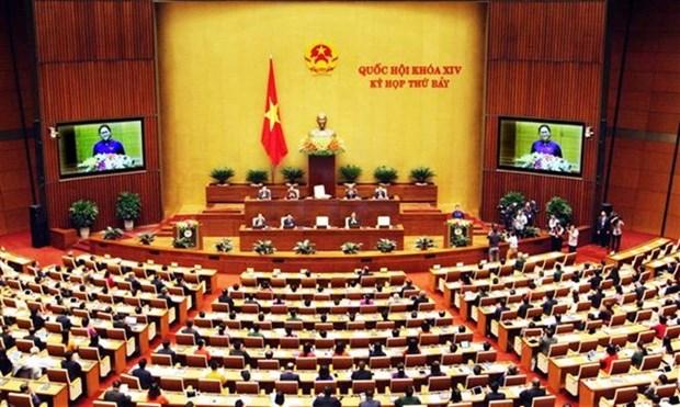越南第十四届国会第七次会议明日进入最后一周 预计将通过7部法律 hinh anh 1