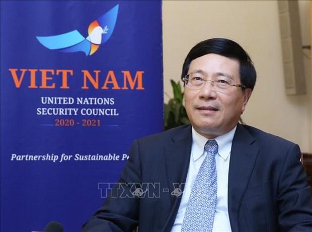 范平明:越南依照国际法优先推动全球性问题 hinh anh 1