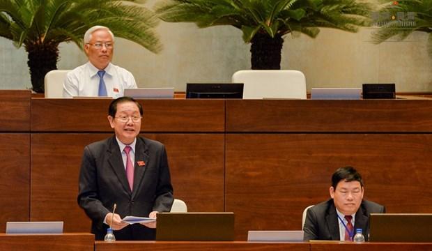 越南第十四届国会第七次会议:表决通过两项决议 讨论两部法案 hinh anh 2