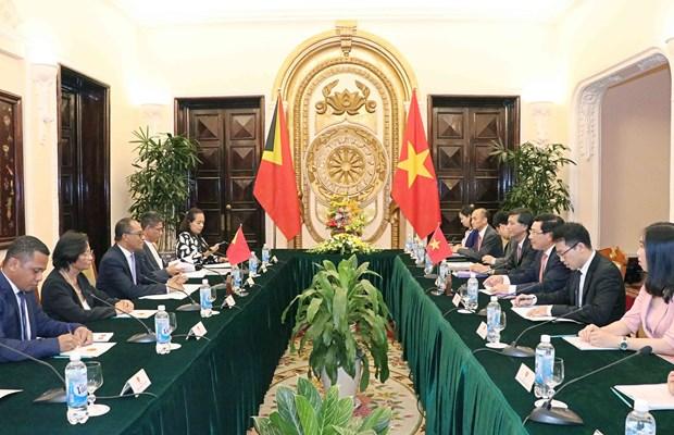 范平明外长同东帝汶外交与合作部部长举行会谈 hinh anh 2