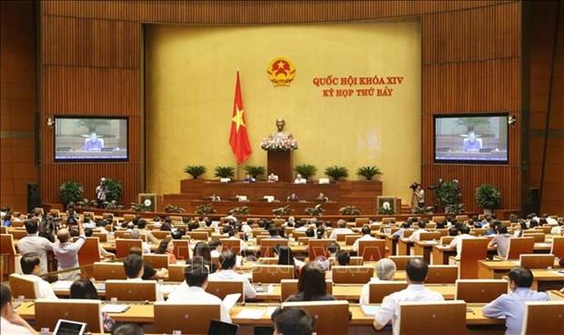 越南第十四届国会第七次会议:表决通过三部法和讨论两部法案 hinh anh 1