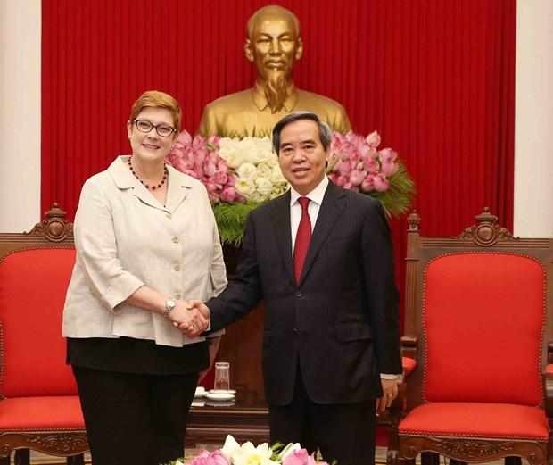 越南愿与澳大利亚加强战略合作 hinh anh 1