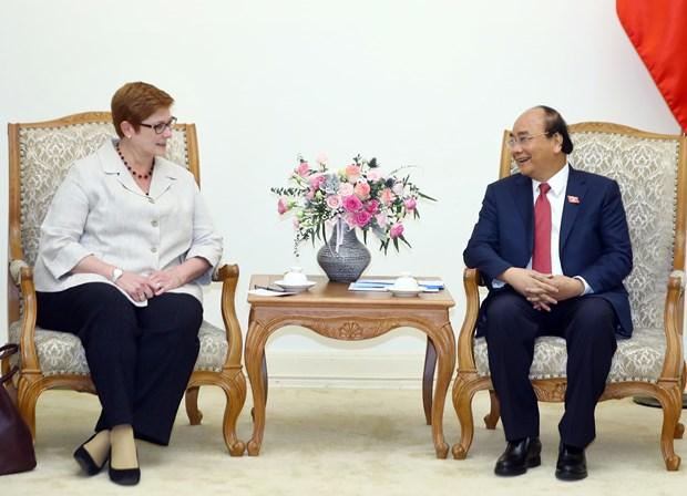 政府总理阮春福会见澳大利亚外交部长玛丽斯•佩恩 hinh anh 1