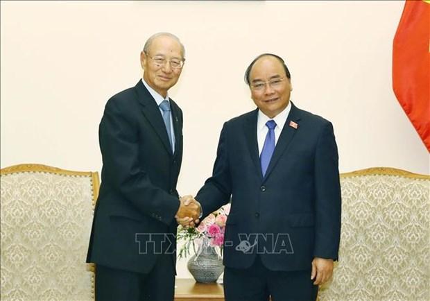 政府总理阮春福会见新加坡凯德集团主席 hinh anh 1