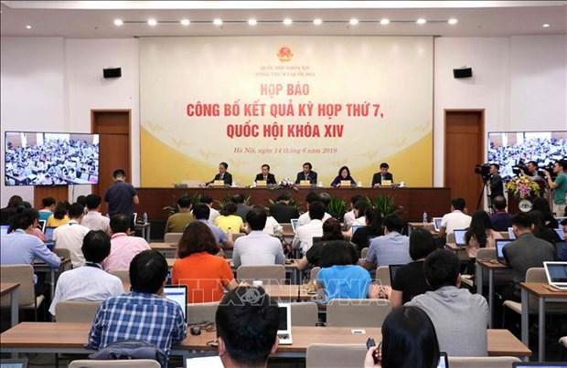 第十四届国会第七次会议新闻发布会在河内举行 hinh anh 1