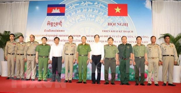 越南与柬埔寨开展边境地区联合打击毒品犯罪专项行动 hinh anh 1
