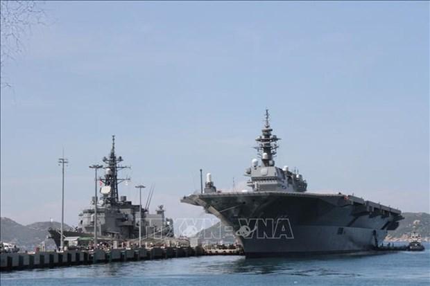 日本海上自卫队两艘军舰访问越南金兰湾港口 hinh anh 2