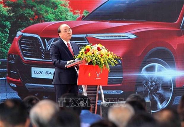 阮春福总理:希望VinFast的产品带有越南烙印和特色 hinh anh 3