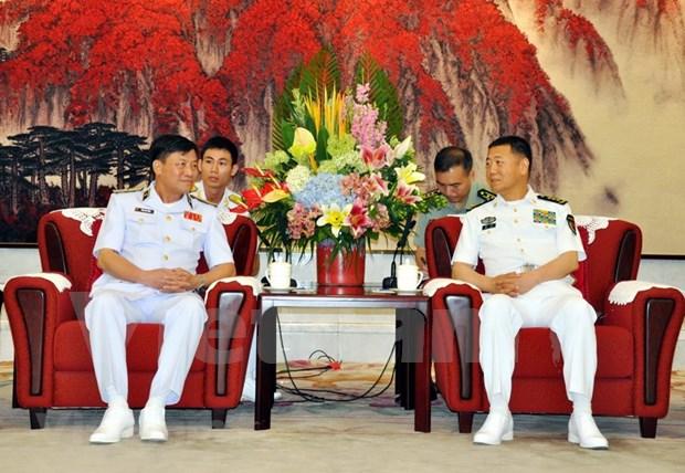 越南人民海军高级干部代表团访问中国 hinh anh 1