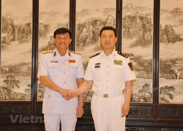 越南人民海军高级干部代表团访问中国 hinh anh 2