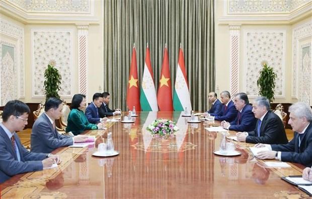 越南国家副主席邓氏玉盛同多国领导举行双边会晤 hinh anh 1