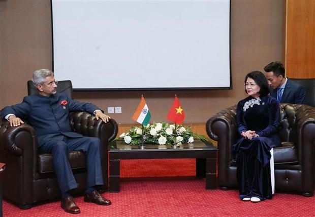 越南国家副主席邓氏玉盛同多国领导举行双边会晤 hinh anh 2