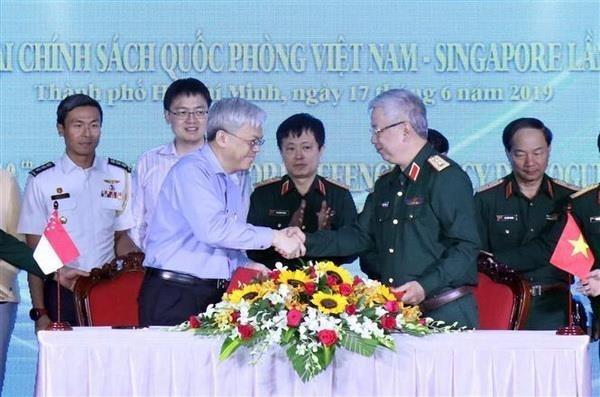 越南与新加坡加强防务合作 hinh anh 1