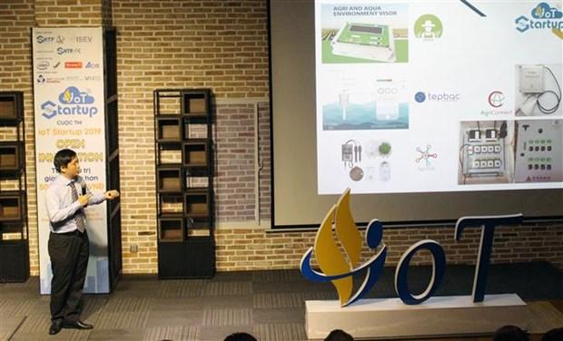 科技企业在物联网创新公开赛上向越南创业型企业订购产品 hinh anh 1