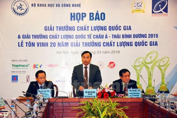 越南77家企业获得2018年越南国家质量奖暨亚太国际质量奖 hinh anh 1