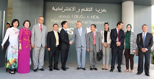 越共中央宣教部部长武文赏访问摩洛哥 开展系列会见活动 hinh anh 2