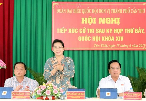 国会主席阮氏金银在芹苴市继续开展选民接待活动 hinh anh 2