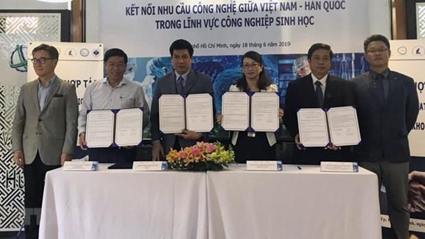 越南与韩国加强生物技术领域的合作 hinh anh 1