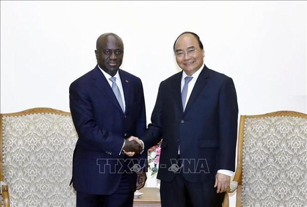 越南政府总理阮春福会见科特迪瓦外交部长马塞尔·阿蒙·塔诺 hinh anh 1