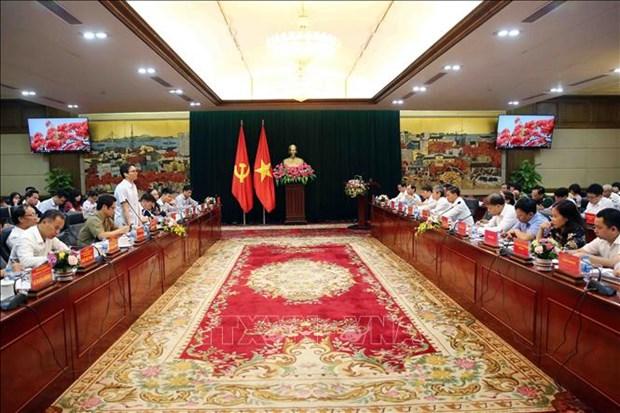 越南政府副总理武德儋就改善经商环境及提高国家竞争力等问题对海防市进行考察 hinh anh 1