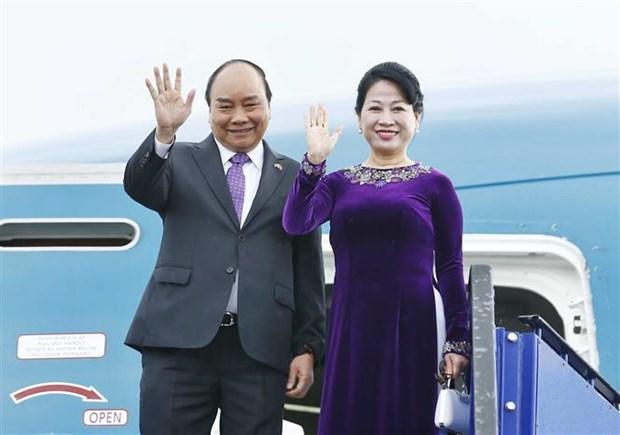 越南政府总理阮春福启程前往泰国出席第34届东盟峰会 hinh anh 1