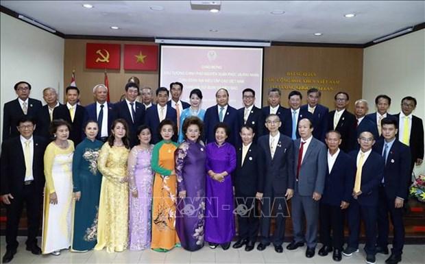阮春福总理造访越南驻泰国大使馆 hinh anh 1