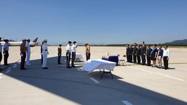 美国军人遗骸回国仪式在岘港市举行 hinh anh 2