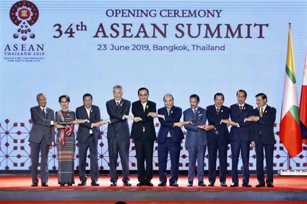 越南政府总理阮春福出席第34届东盟峰会开幕式 hinh anh 1