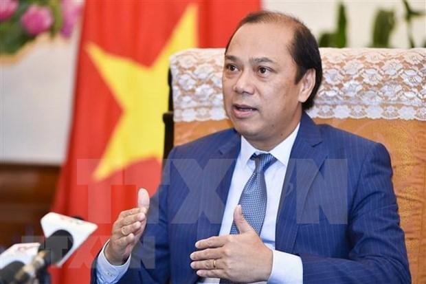 外交部副部长阮国勇就第34届东盟峰会取得的成果接受记者的采访 hinh anh 1