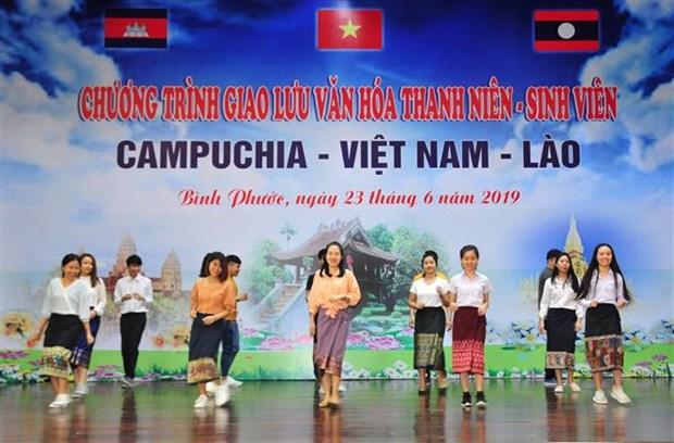 加强柬越老青年学生团结友谊 hinh anh 1