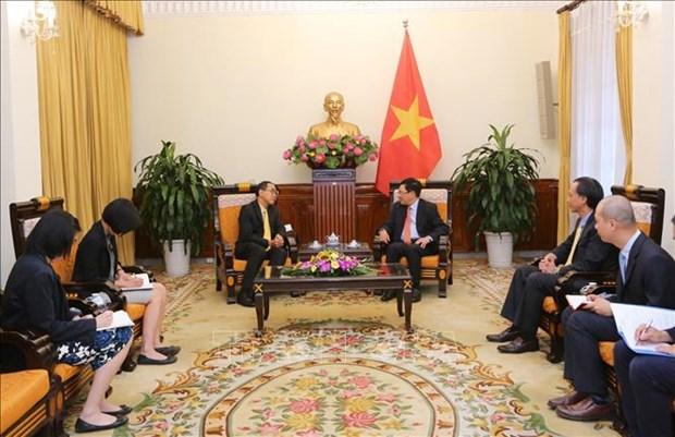 越南政府副总理兼外长范平明会见泰国新任驻越大使 hinh anh 1