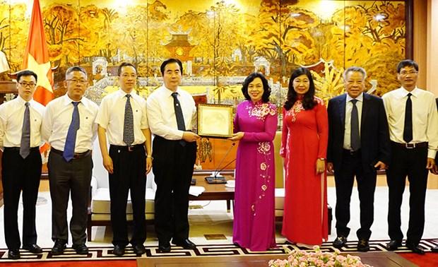 河内与北京继续促进友好关系可持续发展 hinh anh 1