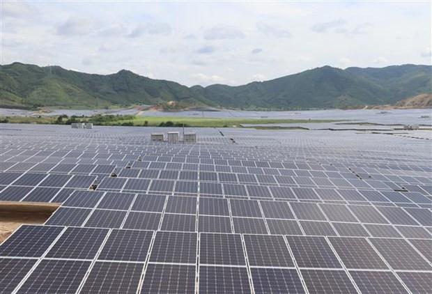 设在富安省的中部最大太阳能发电厂落成 hinh anh 2