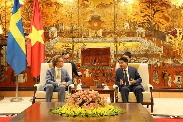 瑞典驻越南大使对河内所取得的成就印象深刻 hinh anh 1