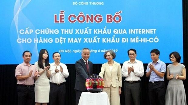越南为按照CPTPP出口墨西哥的纺织品颁发电子证书 hinh anh 1