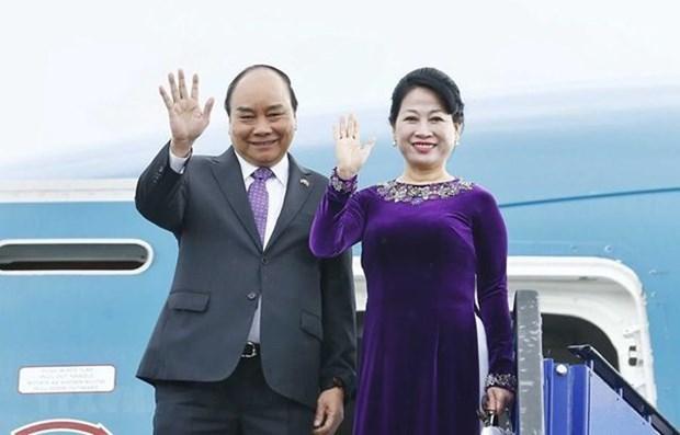 越南政府总理阮春福启程出席G20峰会和访问日本 hinh anh 1