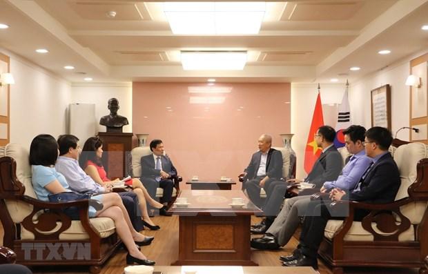 越南与韩国加强旅游、文化、体育合作 hinh anh 1