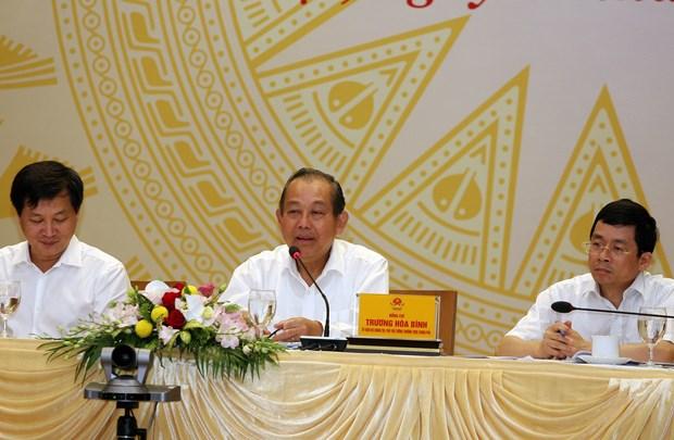 越南政府副总理张和平:坚决与敲诈勒索、贪污受贿等腐败现象作斗争 hinh anh 1
