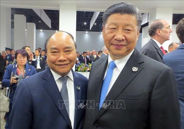 G20峰会:越南政府总理与参会各国领导人和国际组织领导会晤 hinh anh 1