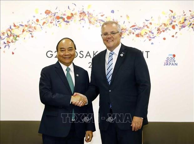 G20峰会:政府总理阮春福会见各国和国际组织领导人 hinh anh 2