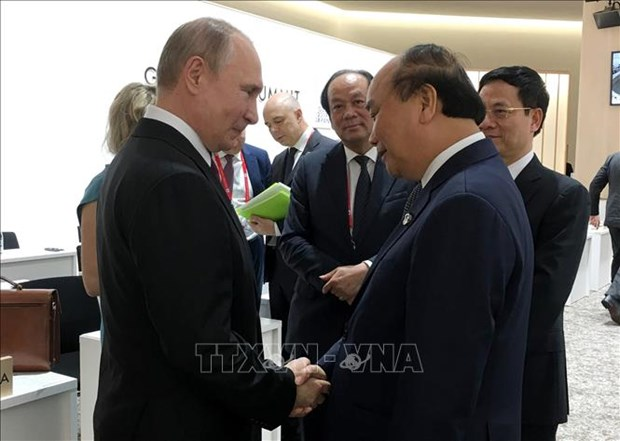G20峰会:政府总理阮春福会见各国和国际组织领导人 hinh anh 1