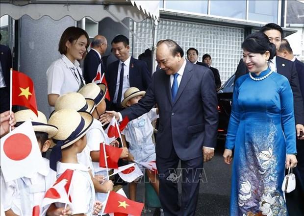 阮春福总理出席日本-越南荷花节活动 hinh anh 1