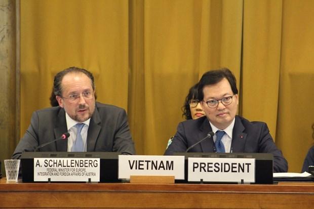 越南促进联合国裁军谈判会议框架内的讨论工作 hinh anh 2