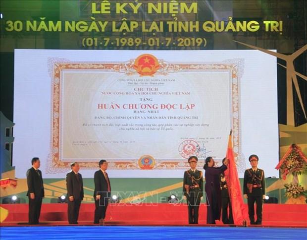 越南国会常务副主席丛氏放出席广治省重设30周年纪念典礼 hinh anh 2