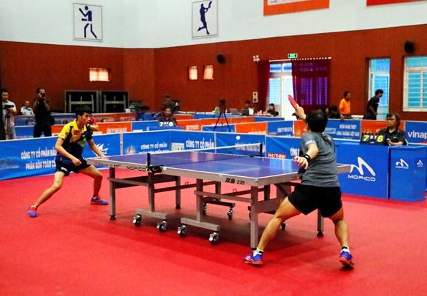 第四届越南永隆国际乒乓球锦标赛: 中国广西一队夺得团体夺冠 hinh anh 1