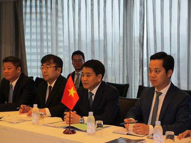 日本领先集团领导承诺对河内市投资近40亿美元 hinh anh 2