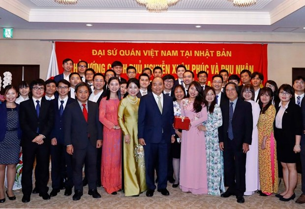越南政府总理阮春福会见旅居日本越南人代表 hinh anh 1