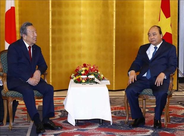 政府总理阮春福会见在越投资兴业的日本企业领导 hinh anh 2